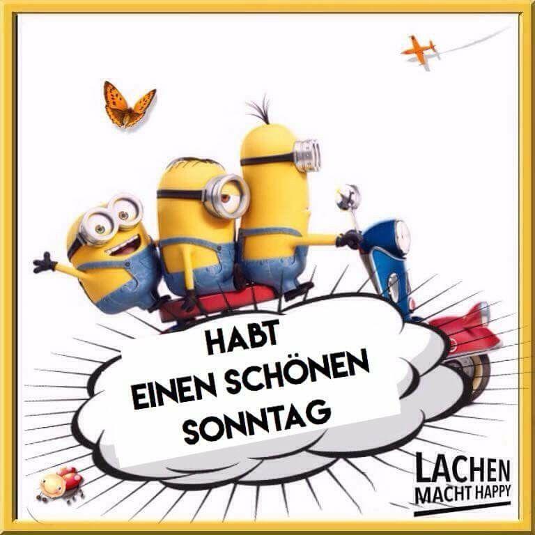 Macht happy sonntag lachen Minions