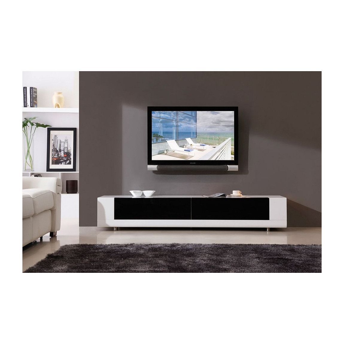 Available in white or black high gloss finish black glass drawers 2 black tempered glass drawers and side accent shelves b modern editor tv stand