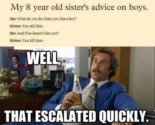 Funny Memes For Boys : A little girl s advice on boysu advice girls and humor