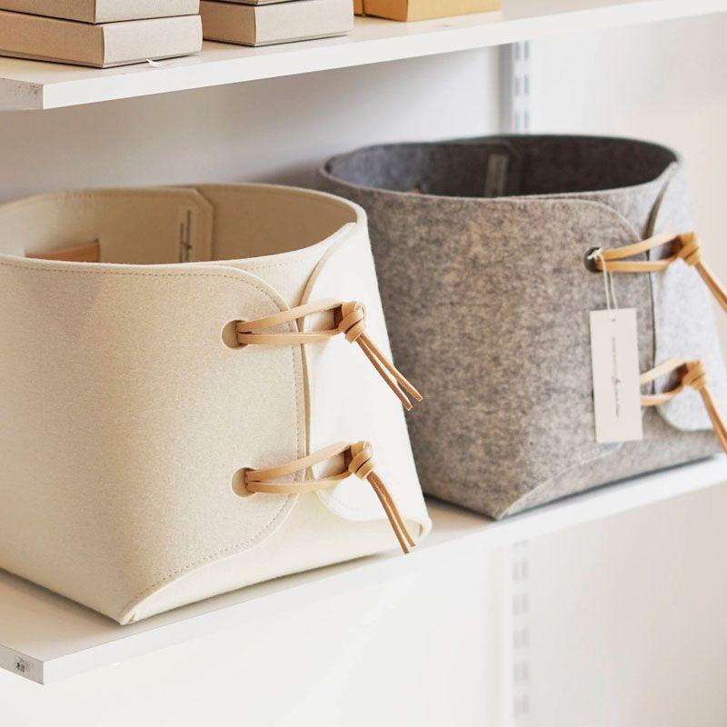 Creative Shoe Storageideas:  Storage Ideas Modern Storage Baskets Made From Felt And