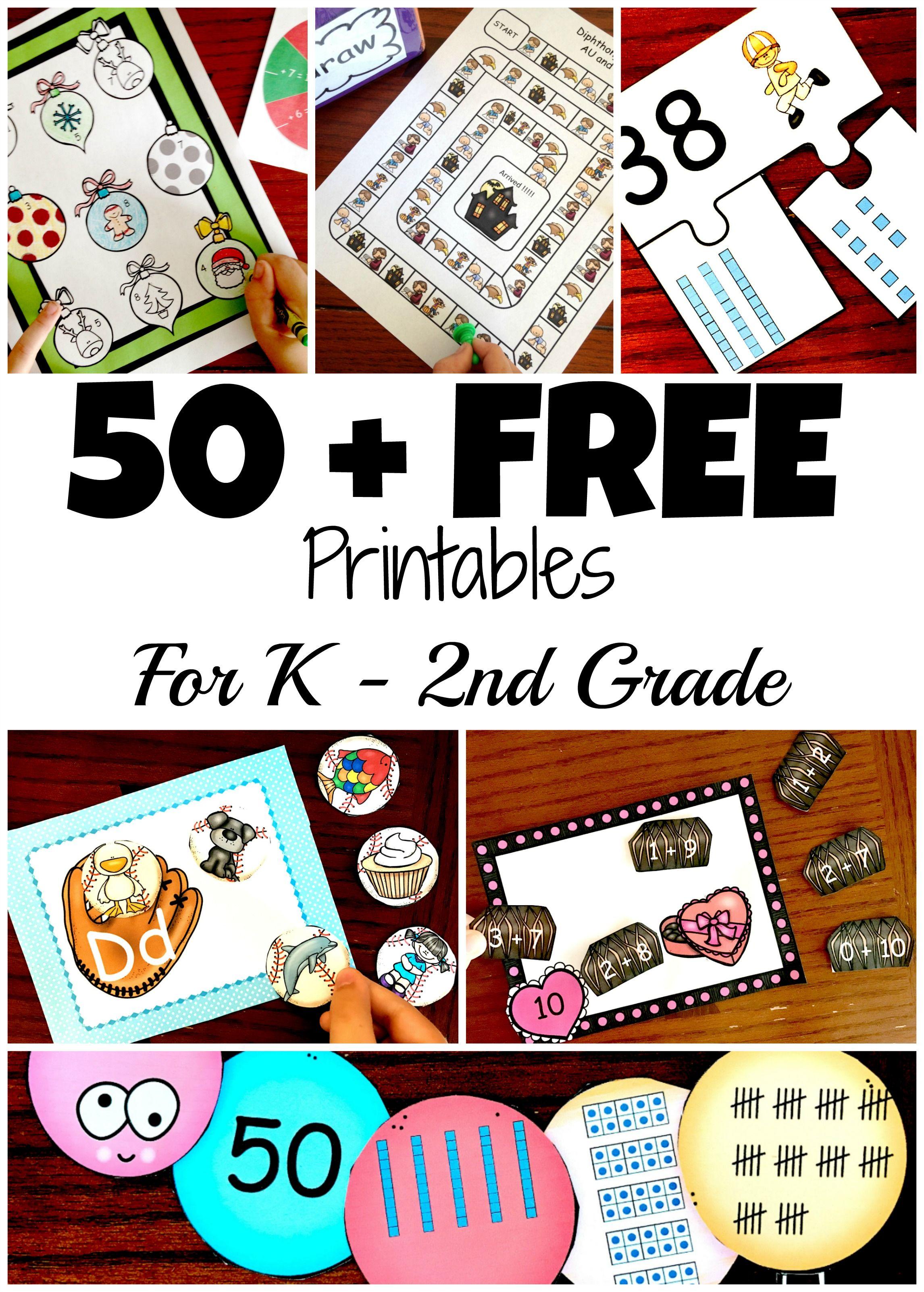 Free Printables For K