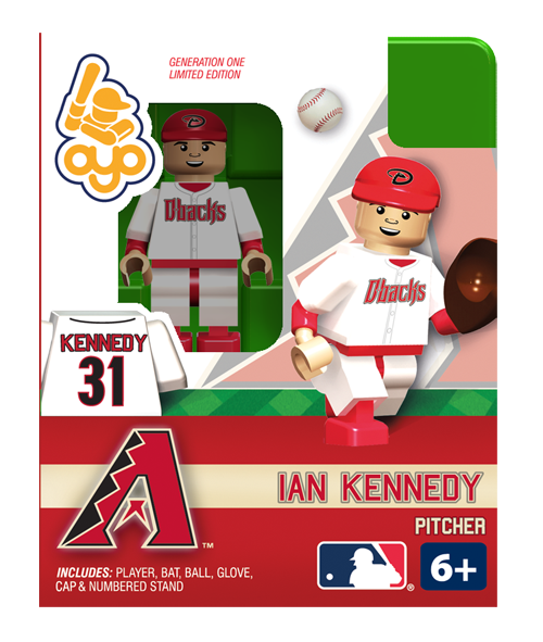 Ian Kennedy - Arizona Diamondbacks, Minifigure