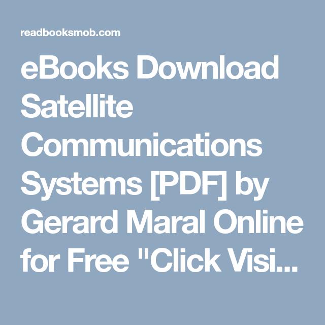 Communication pdf satellite books