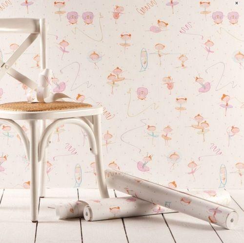 Decoración original con papel pintado: casitas | Decoracion bebe ...