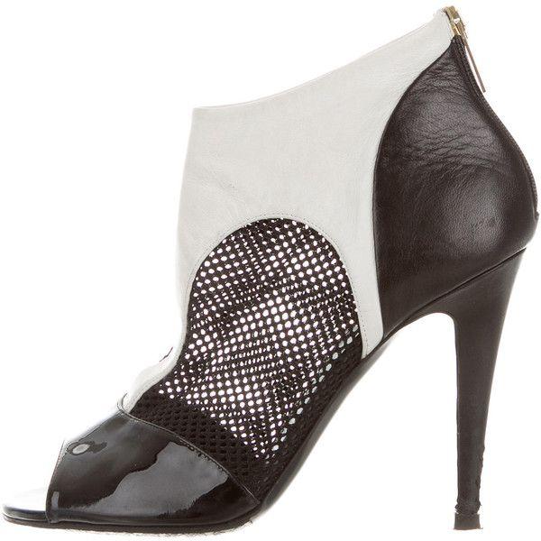 sale best seller 100% original sale online Tamara Mellon Leather Peep-Toe Ankle Boots buy cheap tumblr cqHi8AF