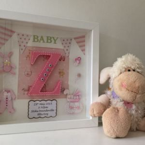 Cute baby names box frame for a baby girl the perfect gift for a cute baby names box frame for a baby girl the perfect gift for a new negle Image collections