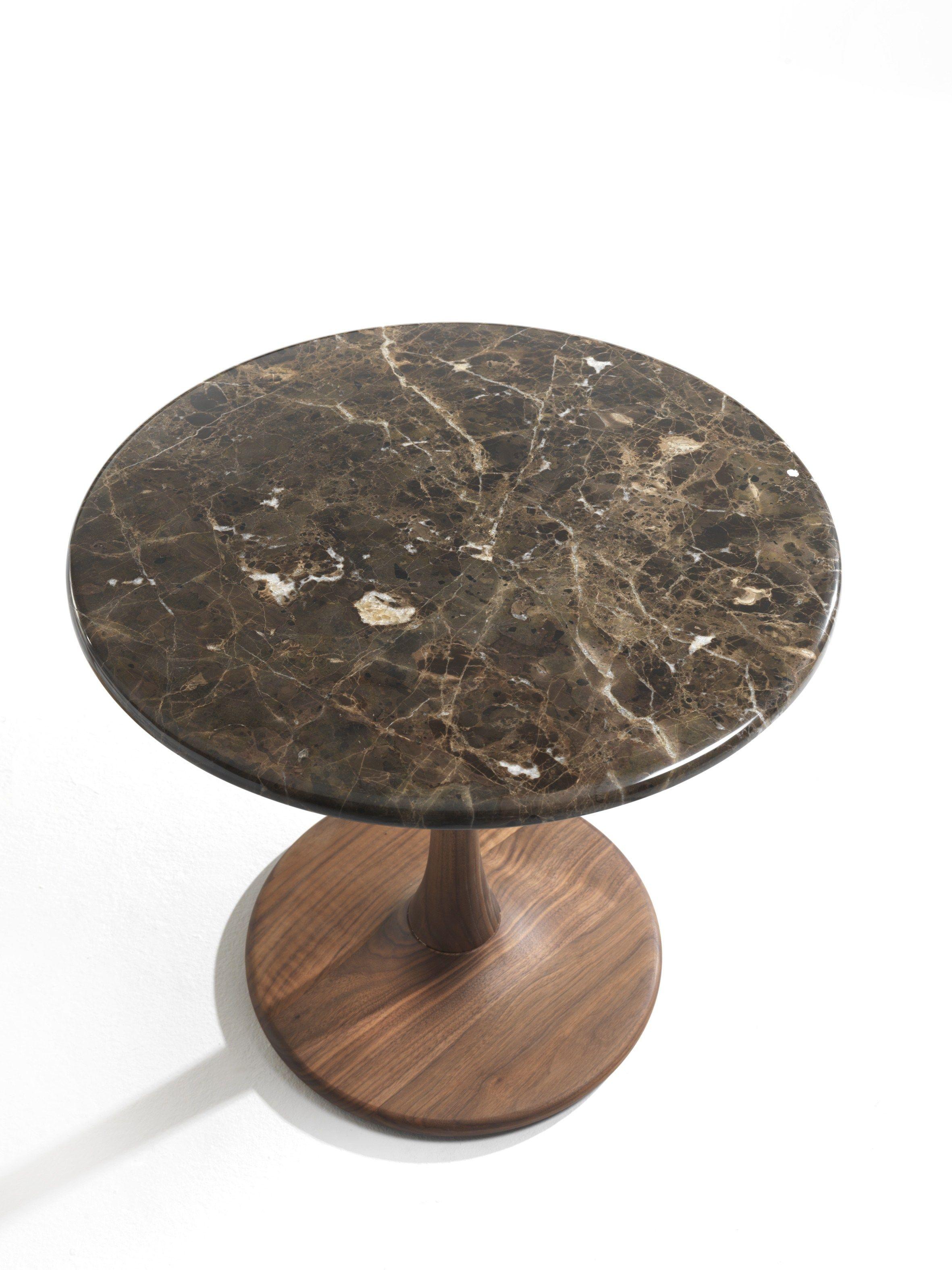 Tavolino Alto Rotondo In Legno Massello Bistro By Riva 1920 Design Maurizio Riva Davide Riva Bistro Dining Table Marble Tables Design Bistro Design