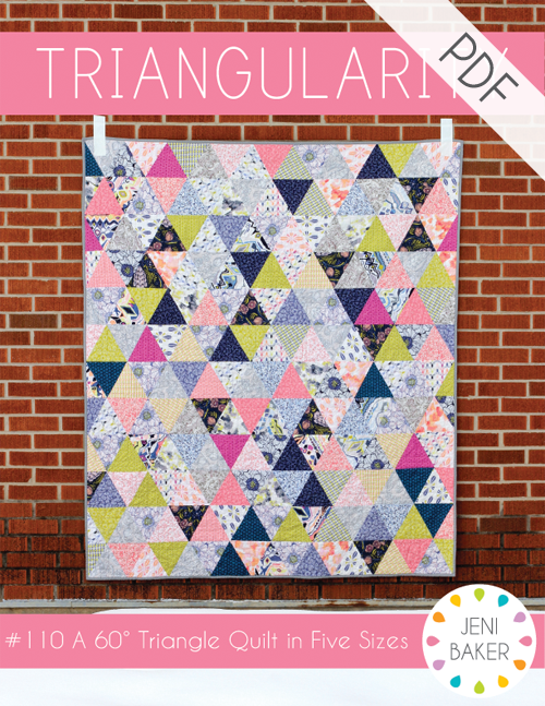Triangularity Quilt PDF Pattern | Pattern cutting, Triangles and ... : modern quilt tutorials - Adamdwight.com