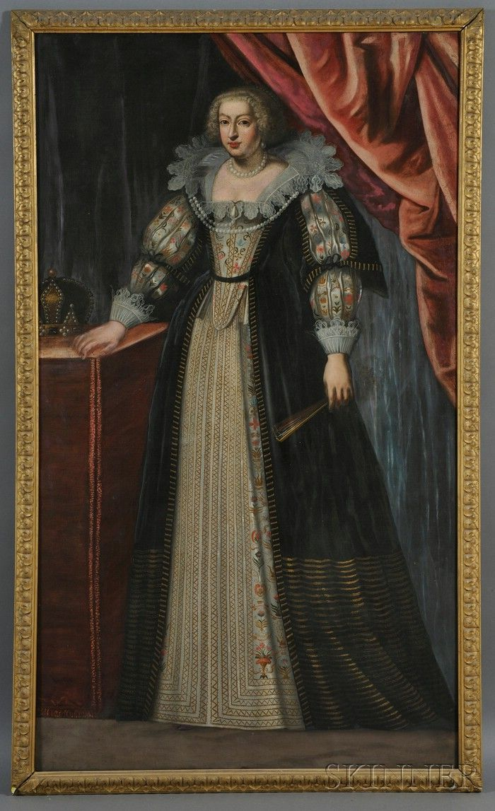 Continental School, 18th Century Portrait of a Noblewoman.