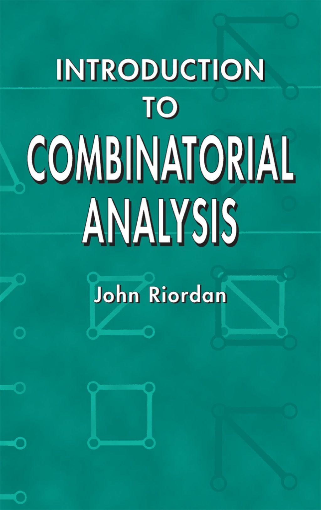 Introduction To Combinatorial Analysi Ebook Dissertation Writing Service Academic Increase Knowledge Undergraduate Mathematic