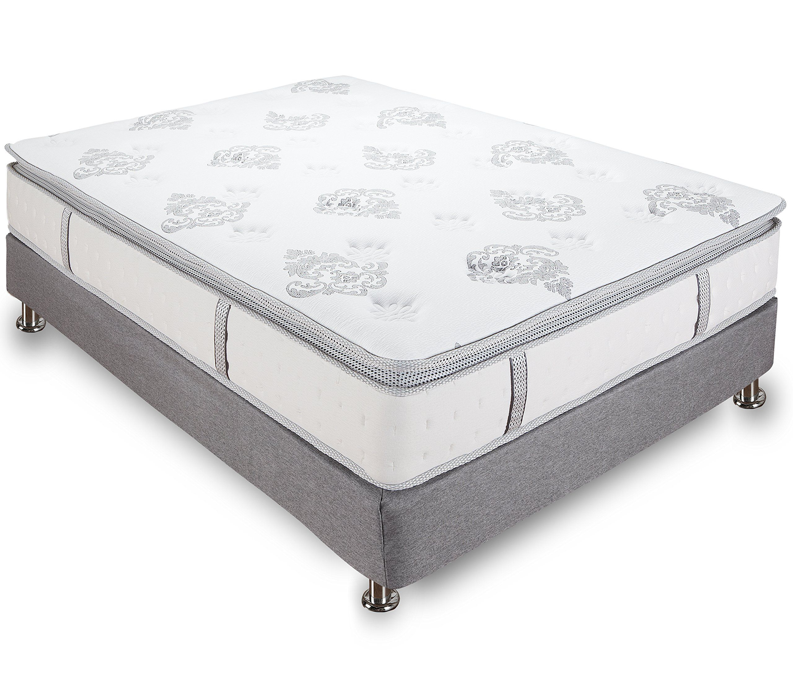 Classic Brands Mercer 12 Inch Hybrid Cool Gel Memory Foam And Innerspring Mattress Full Size Mattress Innerspring Mattresses Best Mattress