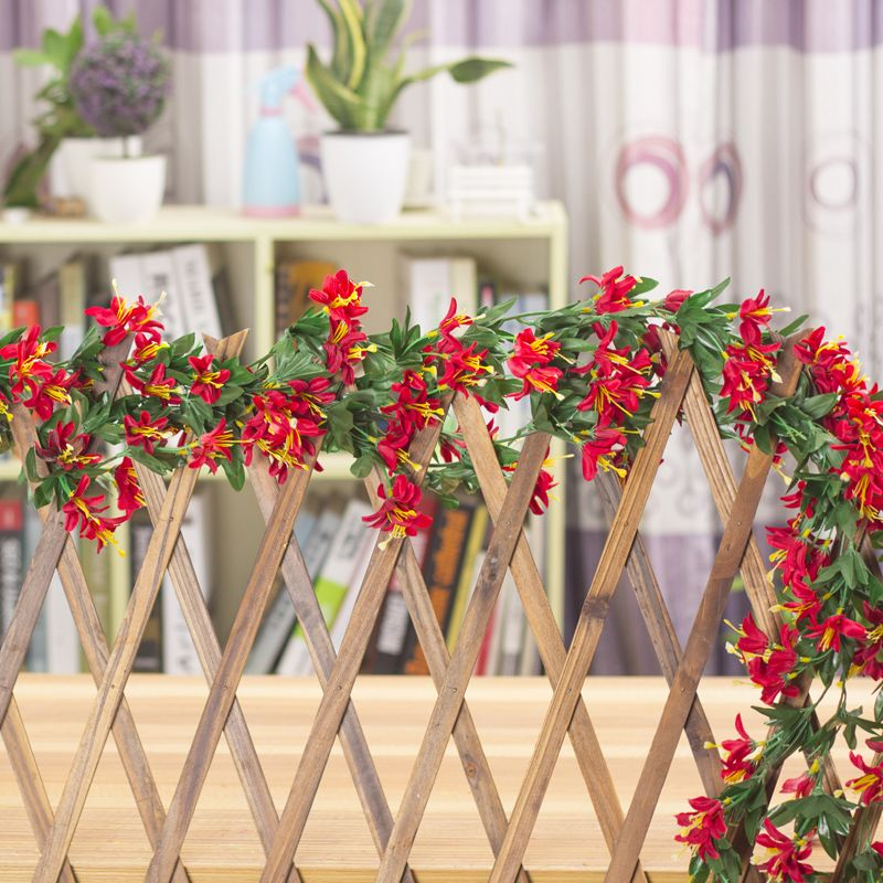 Lily Flower Rattan Indoor Artificial Flower Decoration Plastic Flower Wall  Artificial Plants Rattails Living Room Decoration