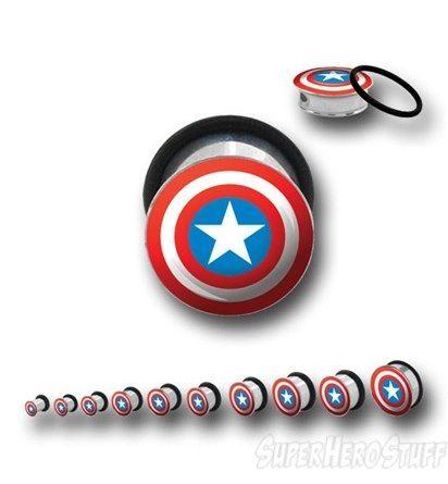 Avengers Logo Plug Earrings