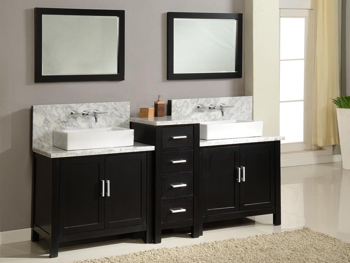 Double Vessel Sink Vanities 84 Torrington Double Vessel Sink Vanity Espresso Black Vanity Bathroom Unique Bathroom Vanity Double Vanity Bathroom
