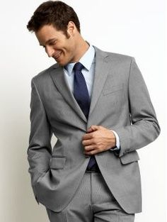Jason: gray suit, blue shirt, navy tie | Saying I DO! | Pinterest ...