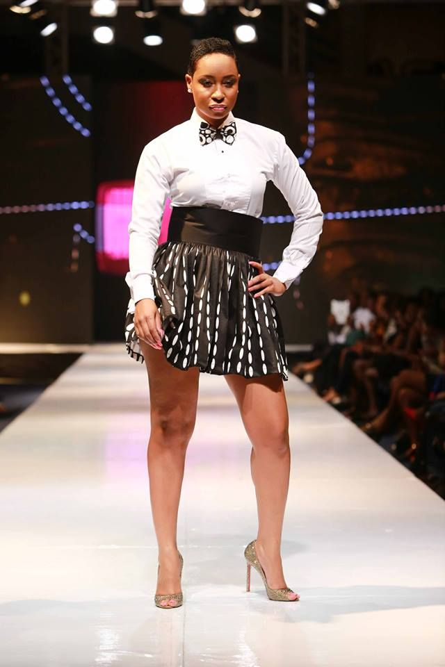 Stunning Photos: Pokello Shines In Elikem's Designed Outfits On The Runway