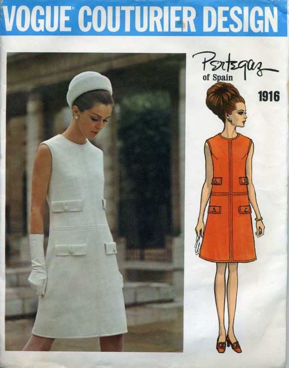 Vogue Couturier Design 1916 Pertegaz Late 60\'s Mod | mode ...