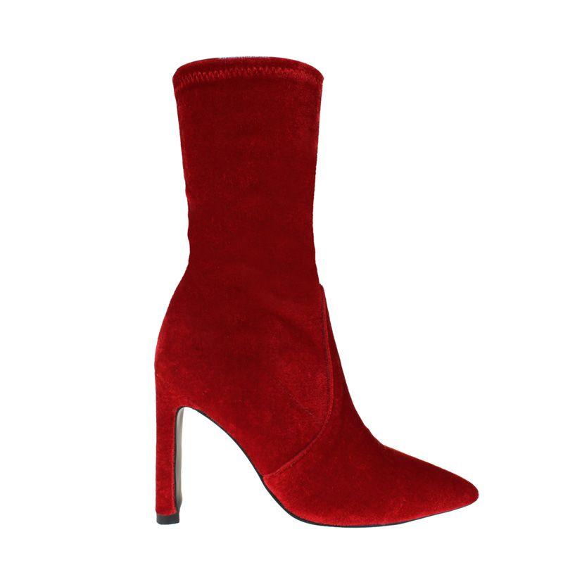 GDYE Basic Stiletto Heel Velvet Ankle Boots@ shopjessicabuurman.com  #jessicabuurman  @jessicabuurman