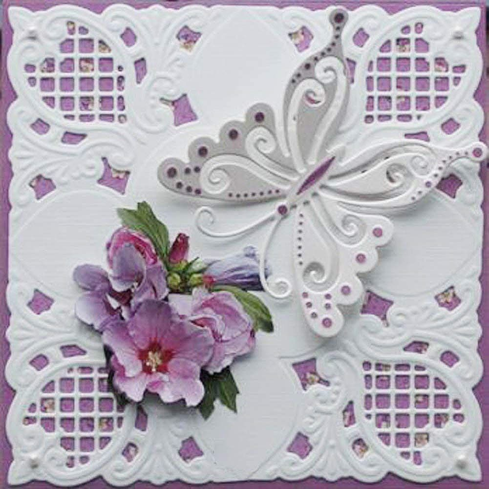 Corner Flower Cutting Dies Stencil DIY Scrapbooking Embossing Album Paper Card
