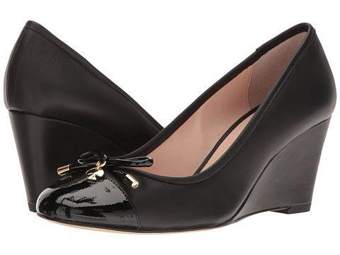 Kate Spade New York Kacey Black Patent/Shale Nappa - 6pm.com