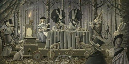 Alice in Wonderland Artwork by David Delamare