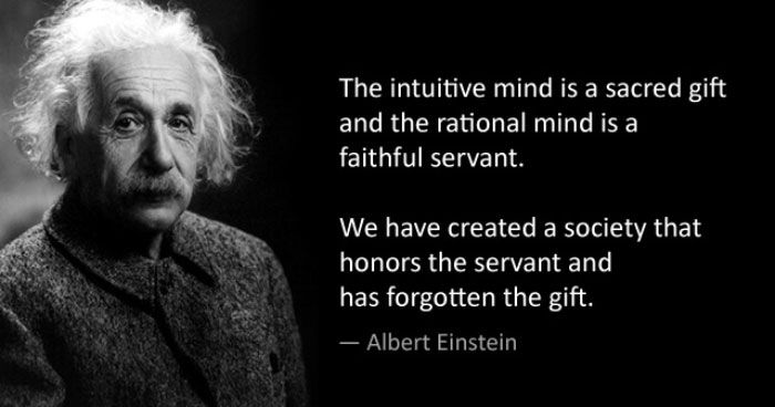 Image result for quotes einstein intuition