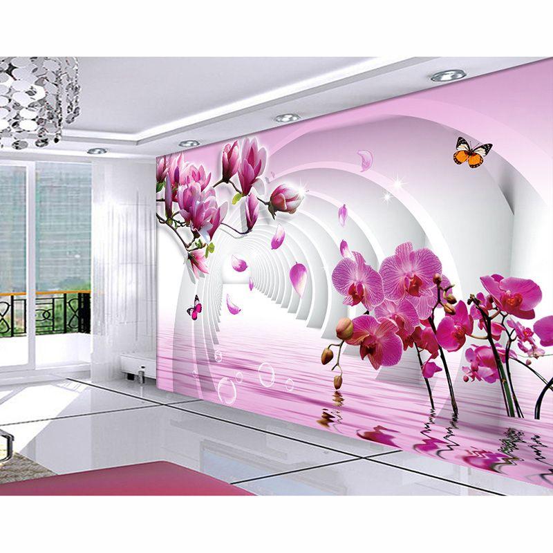 HD Magnolia Flower Custom 3D Photo Murals Wall Paper Beautiful ...