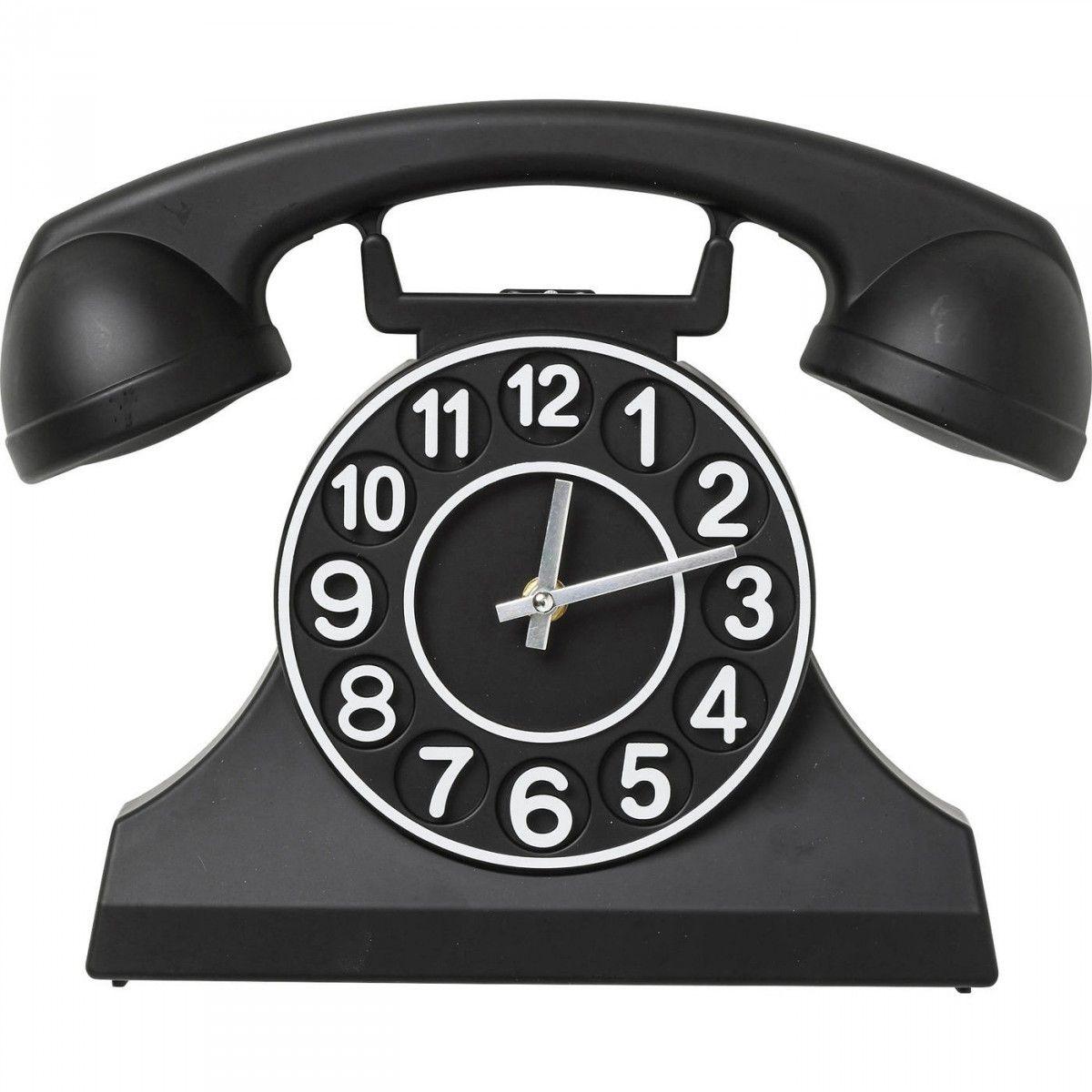 Kare Design Wanduhr Telephone Schwarz Wanduhr Uhrideen Wanduhren