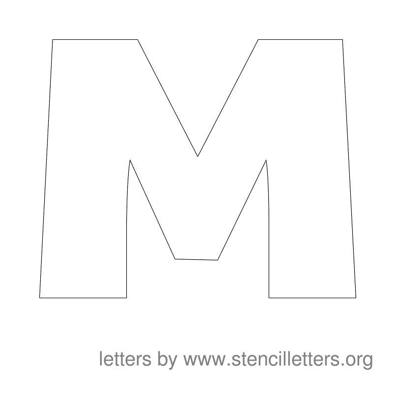 letter m stencil template  Stencil Letters to Print. Free Printable Alphabet Letter ...
