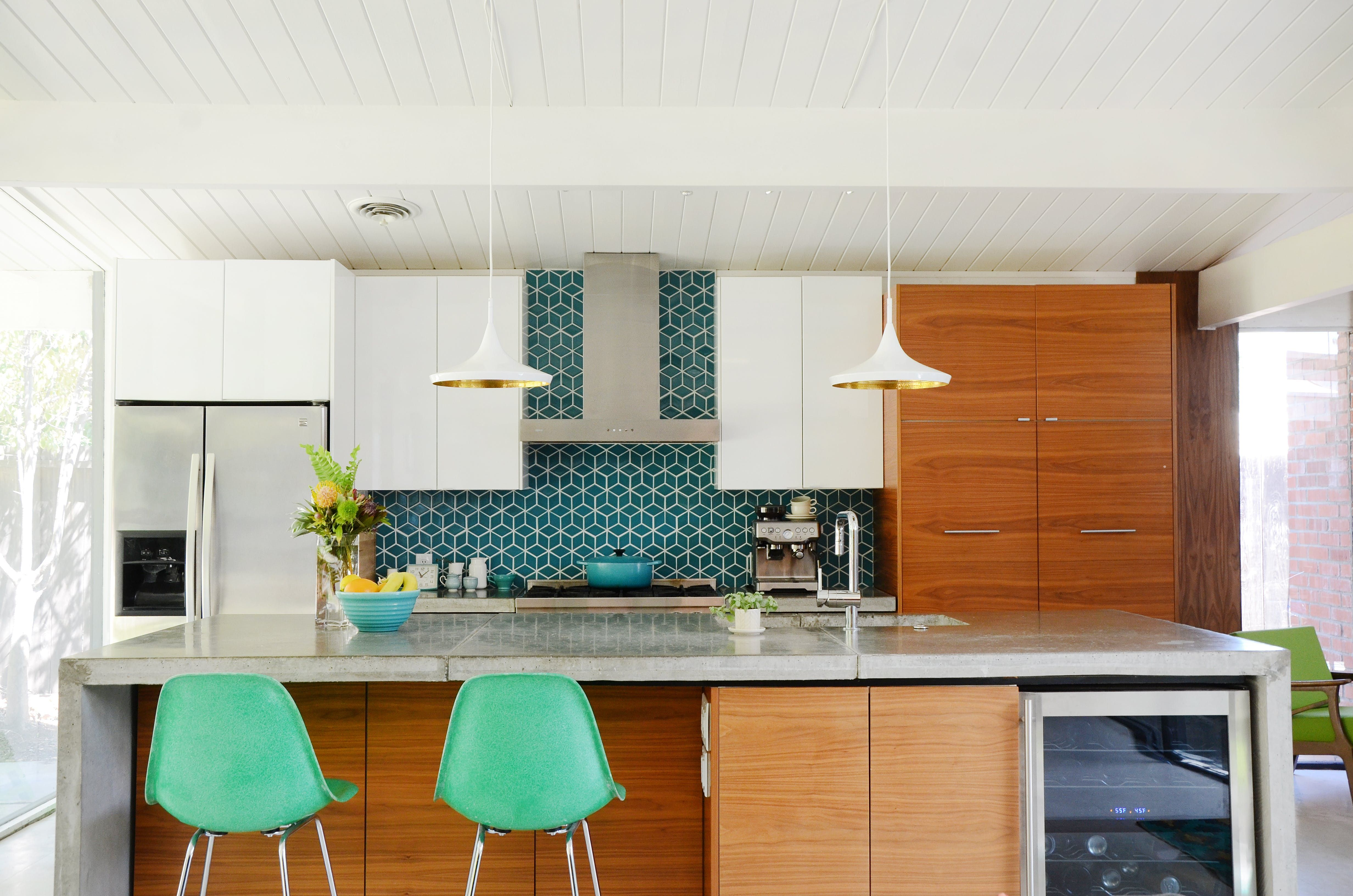California Kitchen Design Ideas ~ Tour a remodeled eichler home in northern california concrete