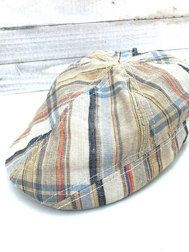 Details About Dorfman Pacific Scala Hat Linen Cotton Classic Newsboy Cabbie Cap Medium In 2020 Scala Hats Hats News Boy Hat