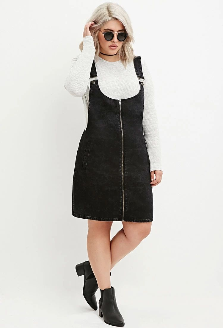 Plus Size Zip Front Overall Dress Forever 21 Plus Forever21plus