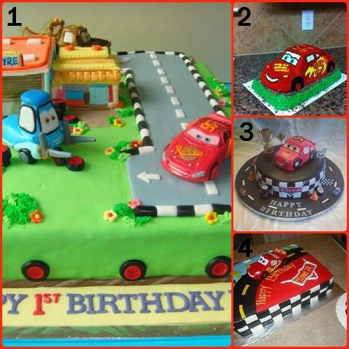 Cars 1st Birthday Cake Ideas First Birthday Themes Pinterest