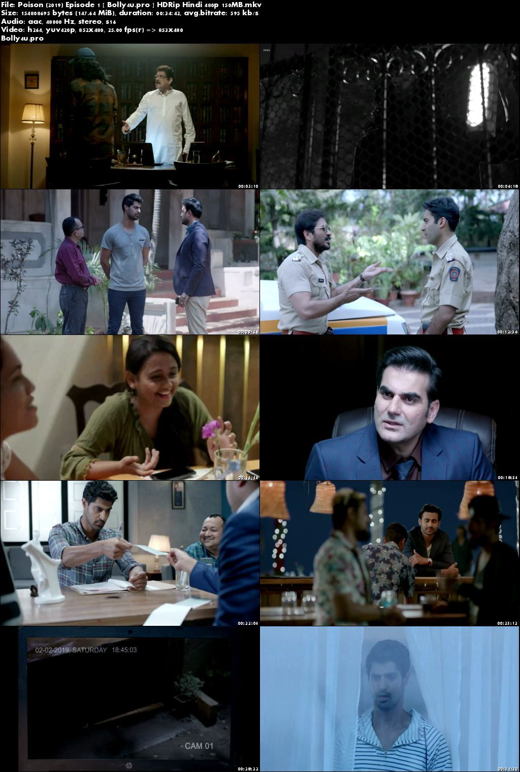 Poison 2019 hdrip 900mb hindi complete s01 download 480p