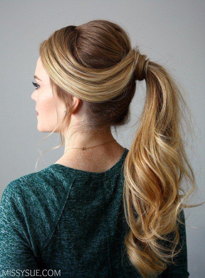 Bonito y cómodo peinados con cola alta Imagen de cortes de pelo consejos - Новости   Peinado con cola de caballo alta, Peinados ...