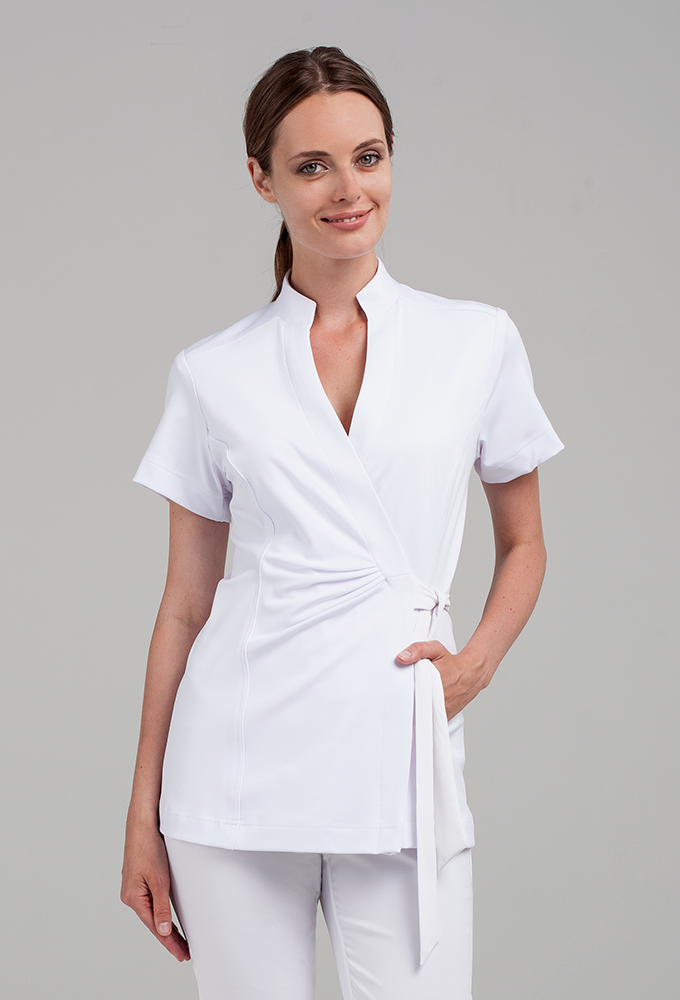 Andiamo wrap tunic tunics wraps and medical uniforms for Spa vest uniform