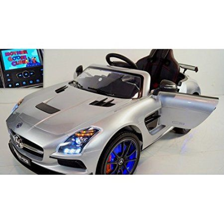 Luxury MP4 Edition Licensed Mercedes SLS 12v Kids Ride on Car Leather Seat, LED Wheels, RC