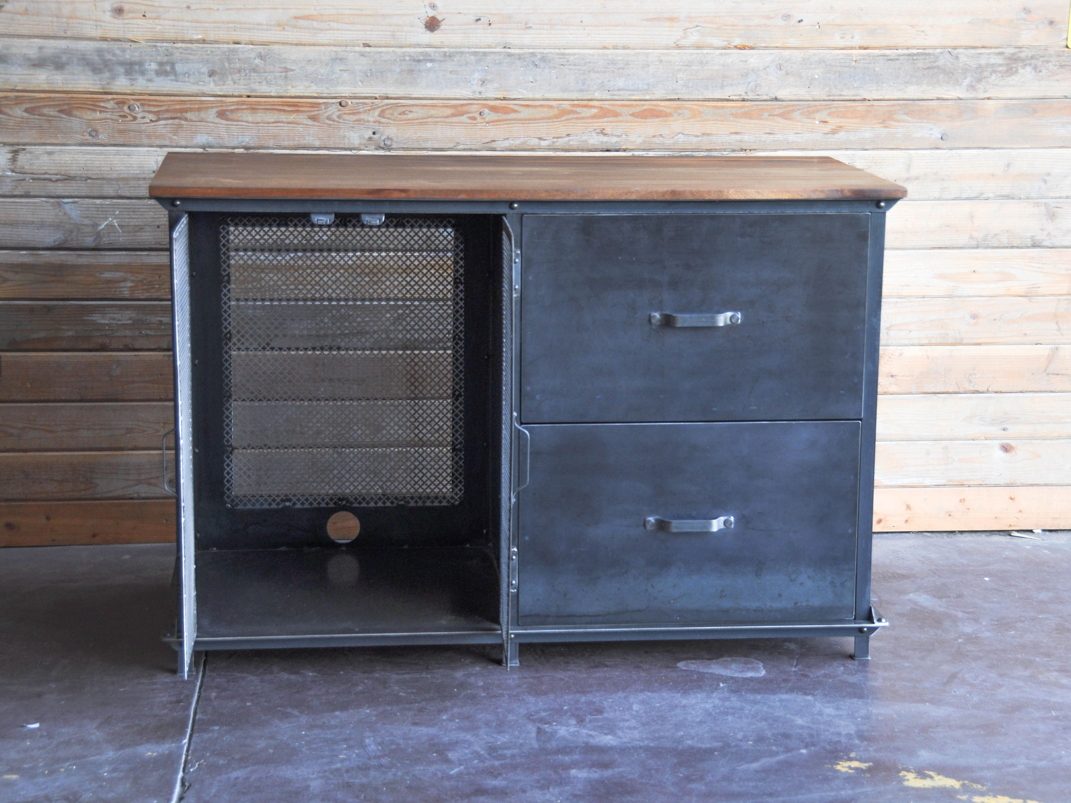 Custom ellis console by vintage industrial furniture in for Furniture 85050