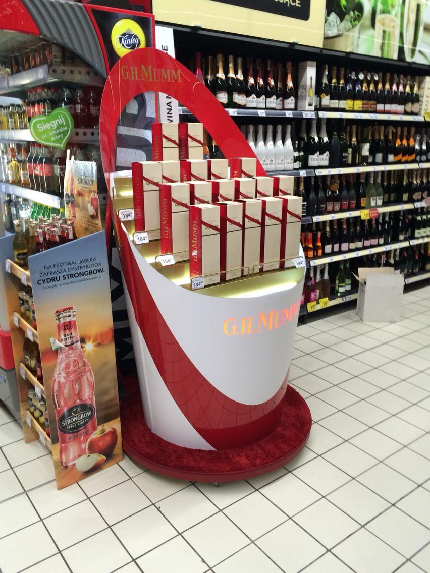 Mumm Display Pos Packaging Alkohol