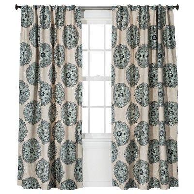 Twill Woven Medallion Curtain Panel Threshold Target