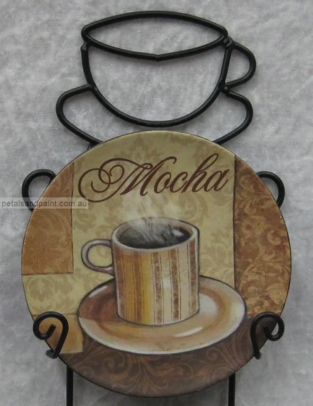 Latte Decorations Coffee Mini Display Plates In Wall Rack Mocha Ebay