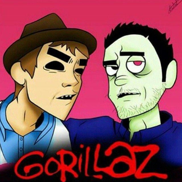 omgg #damonalbarn #2d #jamiehewlett #murdoc #gorillaz #gorillazchick…
