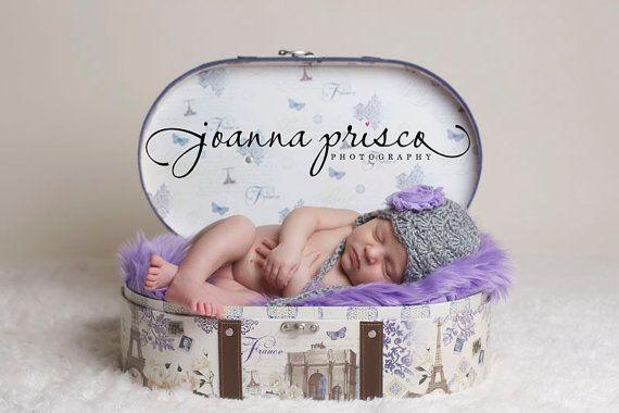Lavender purple shag faux fur fabric nest newborn girl props blanket basket stuffer prop