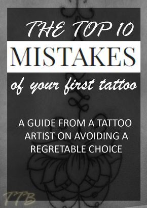 The Top 10 Mistakes Of Your First Tattoo Piercingstattoos