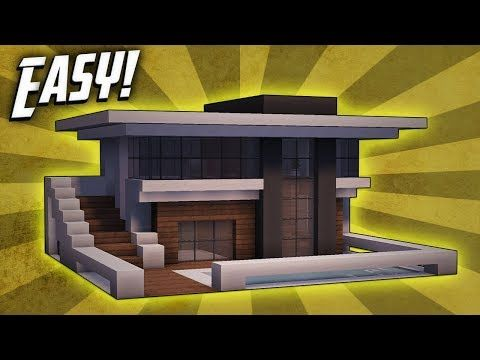 Minecraft How To Build A Small Modern House Tutorial YouTube - Lego minecraft haus bauen anleitung