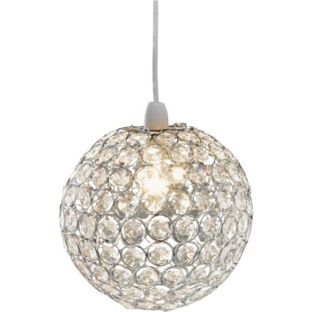 buy living clear crystal globe light shade at. Black Bedroom Furniture Sets. Home Design Ideas