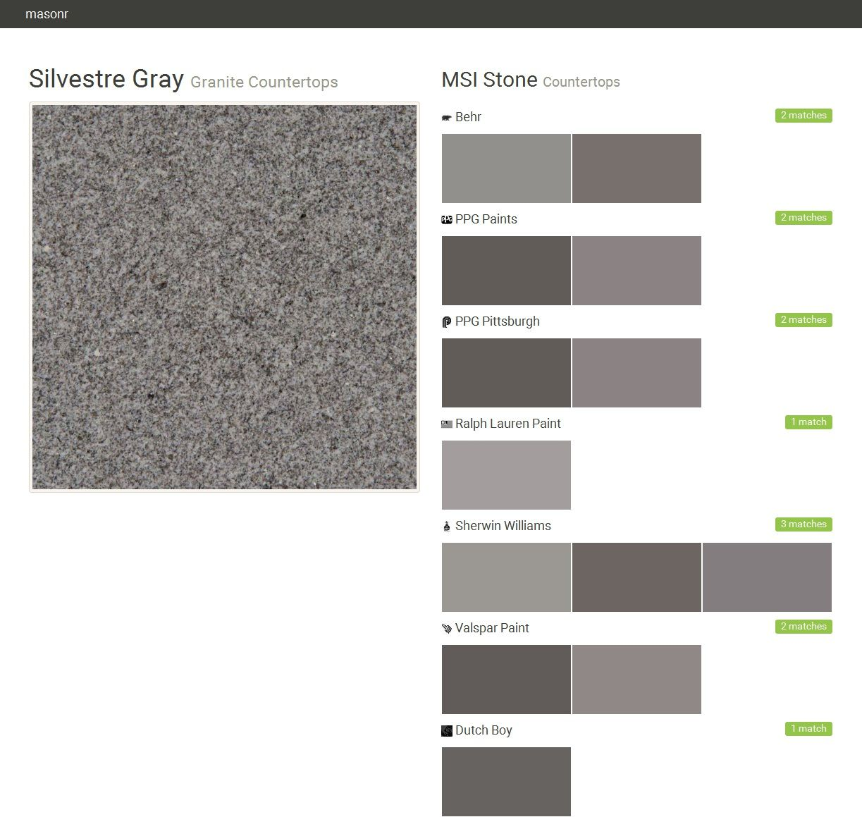 Silvestre Gray. Granite Countertops. Countertops. MSI Stone. Behr. PPG  Paints.