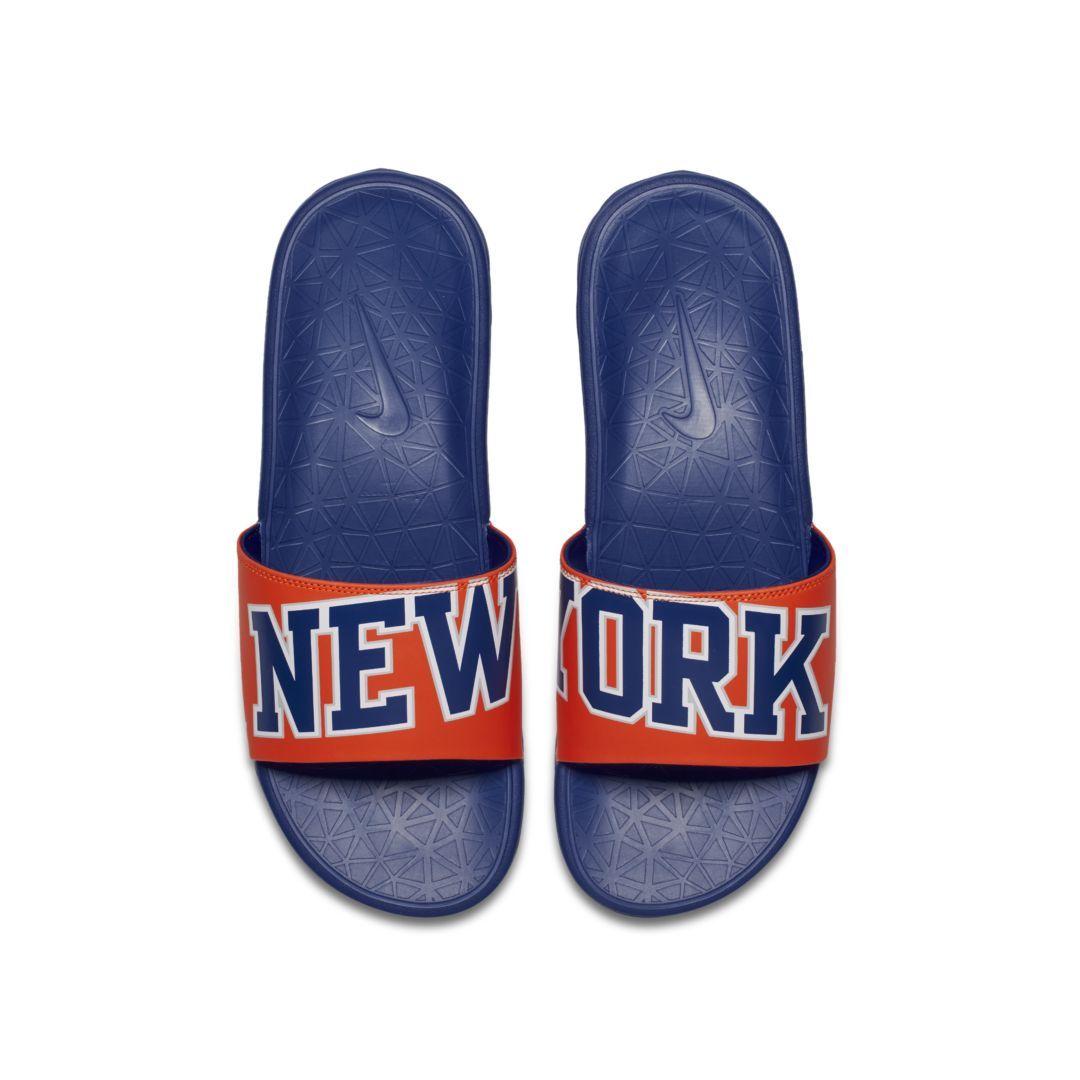 new style fe79d b776b Nike Benassi NBA Men s Slide Size 8 (Brilliant Orange)
