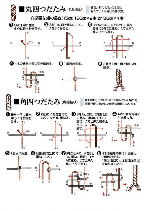 数珠、念珠、丸四つただみ、角四つだだみ、結び方、編み方、作り方、禅宗                                                                                                                                                      もっと見る