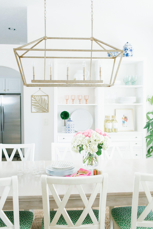 A Bright Florida Colorful Dining Room. Gold LanternsBrass LanternLantern  Light ...